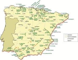 kaart vias verdes